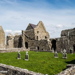 Cloister and southern remains of the church at Abbeyknockmoy