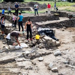 Archaeological excavation in Trim, Meath